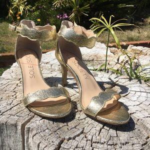 Gold Sole Society High Heel Sandals sz 7